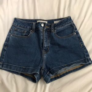 Dark wash Pacsun Mom Shorts